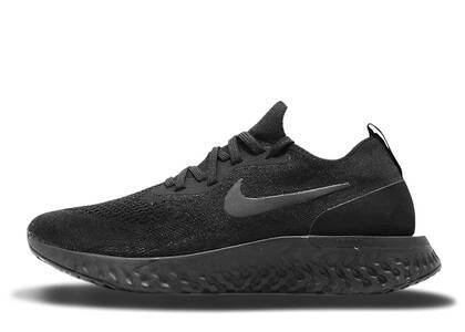 Nike Epic React Flyknit Triple Black Womensの写真