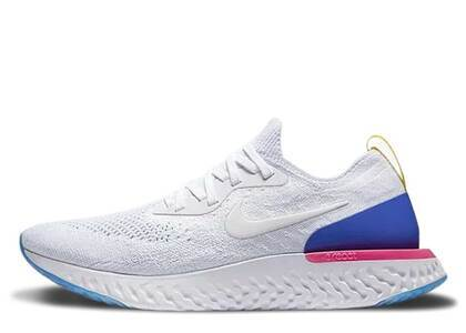 Nike Epic React Flyknit White Racer Blue Pink Blast Womensの写真