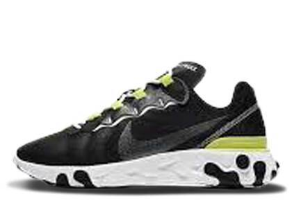 Nike React Element 55 Black Lemon Venom Womensの写真