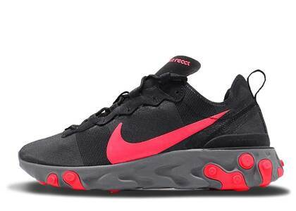 Nike React Element 55 Black Solar Red Womensの写真