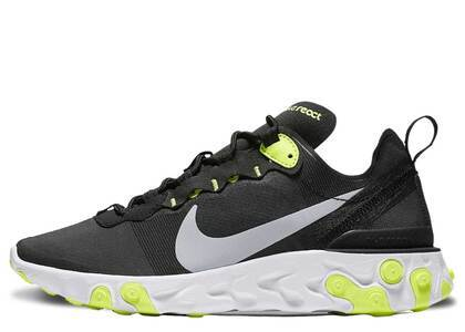Nike React Element 55 Black Volt Cool Grey Womensの写真