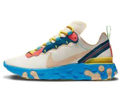 Nike React Element 55 Light Cream Desert Ore Womensの写真