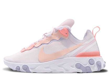 Nike React Element 55 Pale Pink Washed Coral Womensの写真