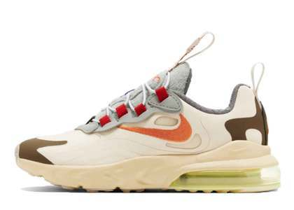 Travis Scott × Nike Air Max 270 React Cactus Trails Little Kidsの写真