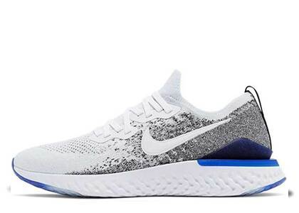 Nike Epic React Flyknit 2 White Black Racer Blueの写真