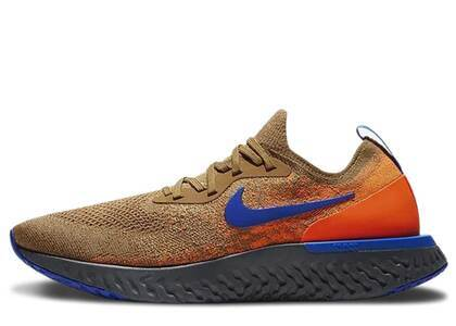 Nike Epic React Flyknit Golden Beige Racer Blueの写真