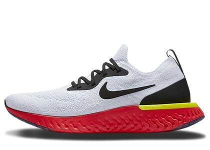 Nike Epic React Flyknit White Bright Crimsonの写真