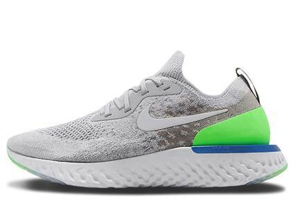Nike Epic React Flyknit Wolf Grey Lime Blastの写真