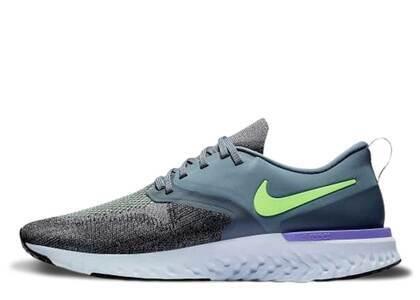 Nike Odyssey React 2 Flyknit Hydrogen Blue Lime Blastの写真