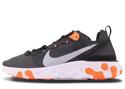 Nike React Element 55 Black Cool Grey Total Orangeの写真
