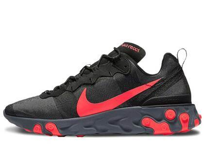 Nike React Element 55 Black Solar Redの写真