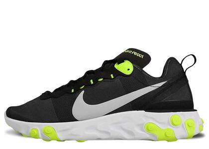 Nike React Element 55 Black Wolf Grey Voltの写真