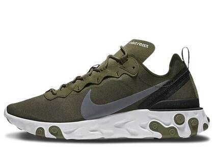 Nike React Element 55 Medium Oliveの写真
