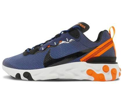 Nike React Element 55 SE Midnight Navy Total Orangeの写真