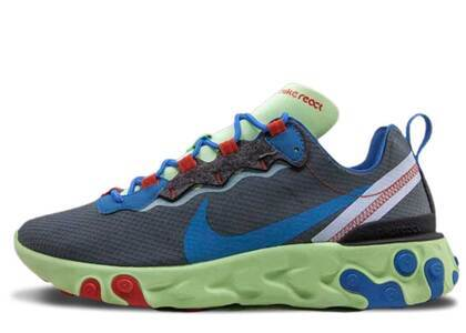 Nike React Element 55 Volt Dark Grey Photo Blueの写真