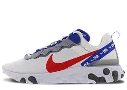 Nike React Element 55 White Game Royal Habanero Redの写真
