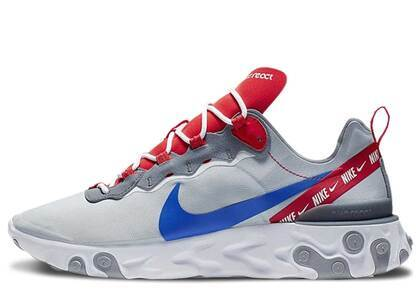 Nike React Element 55 Wolf Grey Game Royal Habanero Redの写真
