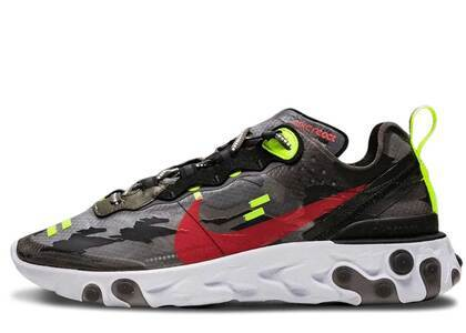 Nike React Element 87 Medium Olive Bright Crimsonの写真