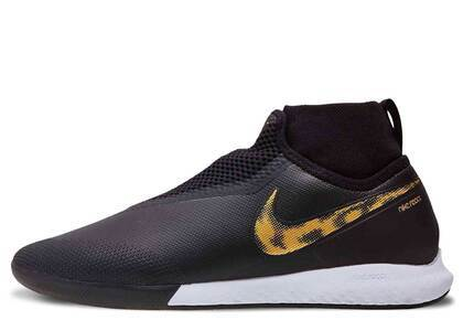 Nike React Phantom VSN Pro DF IC Black Metallic Goldの写真
