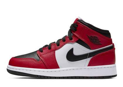 Nike Air Jordan 1 Mid Chicago Black Toe (GS)の写真