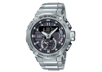 Casio G-Shock GSTB200D-1A - 50mm in Stainless Steel の写真
