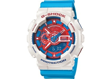 Casio G-Shock Limited Edition Red and Blue Series GA-110AC-7ADR - 55mm in Resinの写真