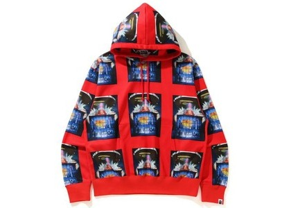 BAPE Invasion Relaxed Pullover Hoodie Red (SS21)の写真