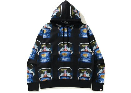 BAPE Invasion Relaxed Pullover Hoodie Black (SS21)の写真