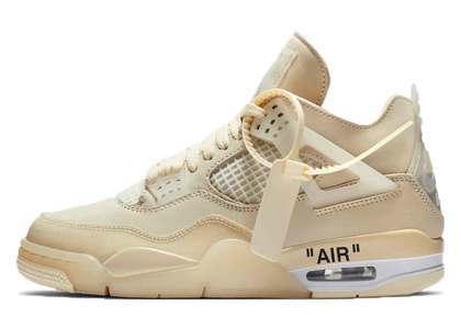 Off-White × Nike Air Jordan 4 Sail Womens