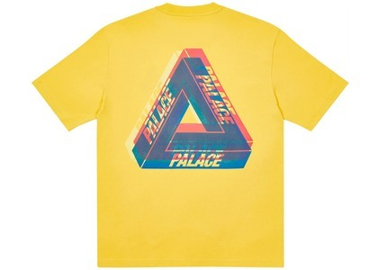 Palace TriFerg Colour Blur TShirt Pale Yellow  (FW20)の写真