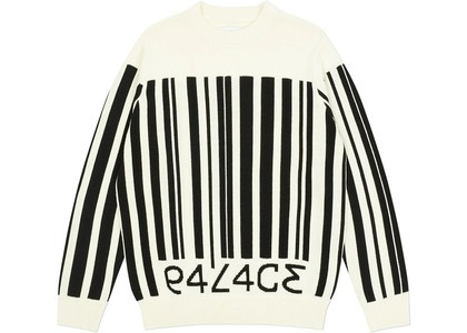 Palace Barcode Knit White  (FW20)の写真