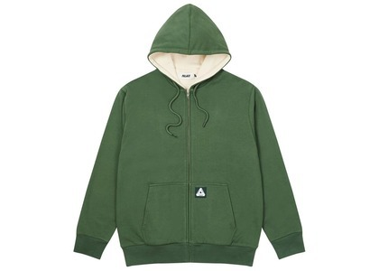 Palace Patch Thermal Zip Hood Green  (FW20)の写真