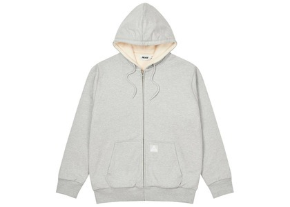 Palace Patch Thermal Zip Hood Grey Marl  (FW20)の写真
