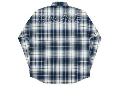Palace Lumber Yak Shirt Blue/White  (FW20)の写真