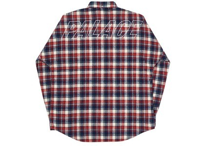Palace Lumber Yak Shirt Red/Navy  (FW20)の写真