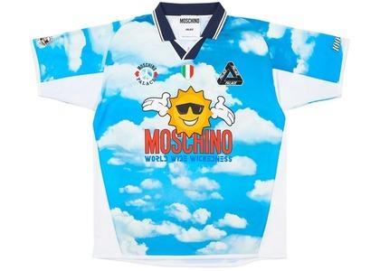 Palace Moschino Football Shirt Blue Cloud  (FW20)の写真