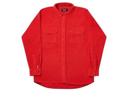 Palace Polartec Lazer Shirt Red  (FW20)の写真