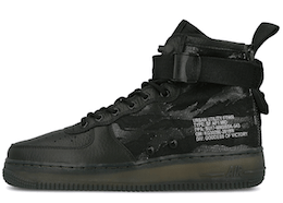 SF Air Force 1 Mid Black Cargo Khakiの写真