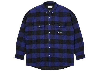 Palace Quilt Mit Plaid Shirt Blue  (FW20)の写真