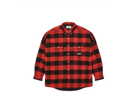 Palace Quilt Mit Plaid Shirt Red  (FW20)の写真