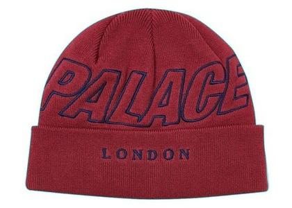 Palace London Beanie Burgundy  (FW20)の写真