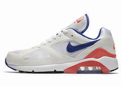 AIR MAX 180 WHITE/ULTRAMARINE-SOLAR RED (2018)の写真