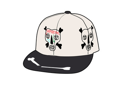 Supreme Clayton Patterson Skulls 5-Panel White (SS21)の写真