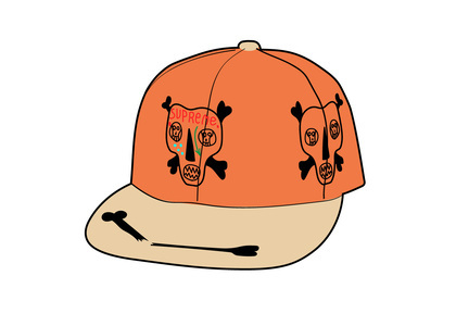 Supreme Clayton Patterson Skulls 5-Panel Orange (SS21)の写真