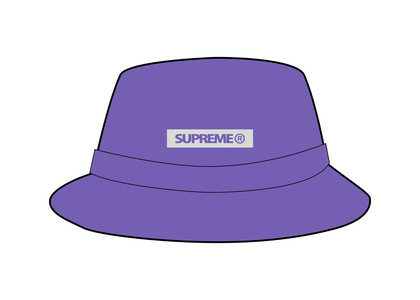 Supreme Reflective Patch Boonie Purple (SS21)の写真