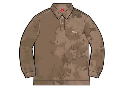 Supreme Bleached Velour L/S Polo Brown (SS21)の写真