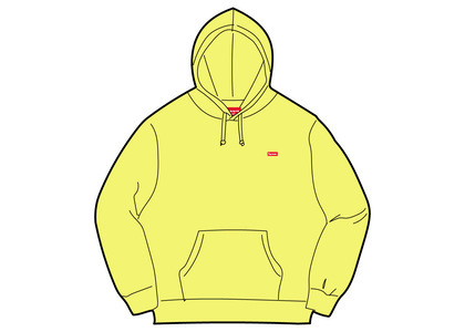 Supreme Small Box Hooded Sweatshirt Yellow (SS21)の写真
