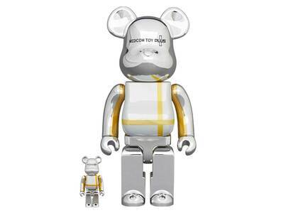 Be@rbrick Medicom Toy Plus Silver Chrome Ver. 100% & 400%の写真