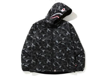 Bape Digital Camo Shark Padded Hoodie Jacket Black (FW20)の写真