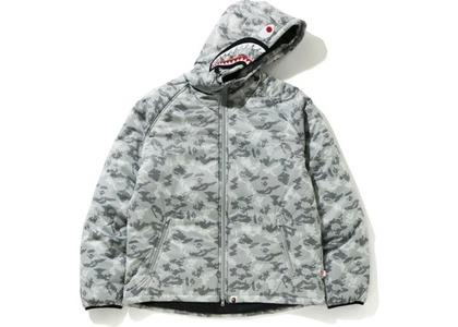 Bape Digital Camo Shark Padded Hoodie Jacket Gray (FW20)の写真